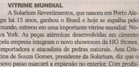 Jornal O Sul | Solarium