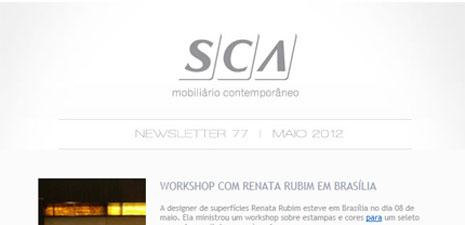 SCA Newsletter | Workshop com Renata Rubim em Brasília