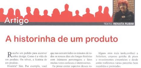 Revista Aspacer | A historinha de um produto