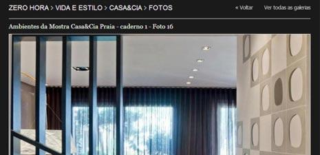 Site Zero Hora | Mostra Casa&Cia Praia 2014