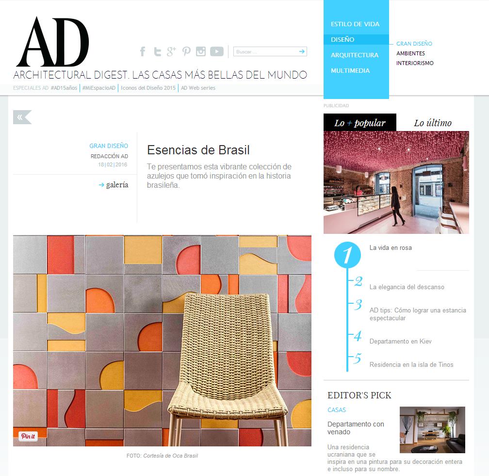 Architetural Digest (México) | Coleção Brasiliana