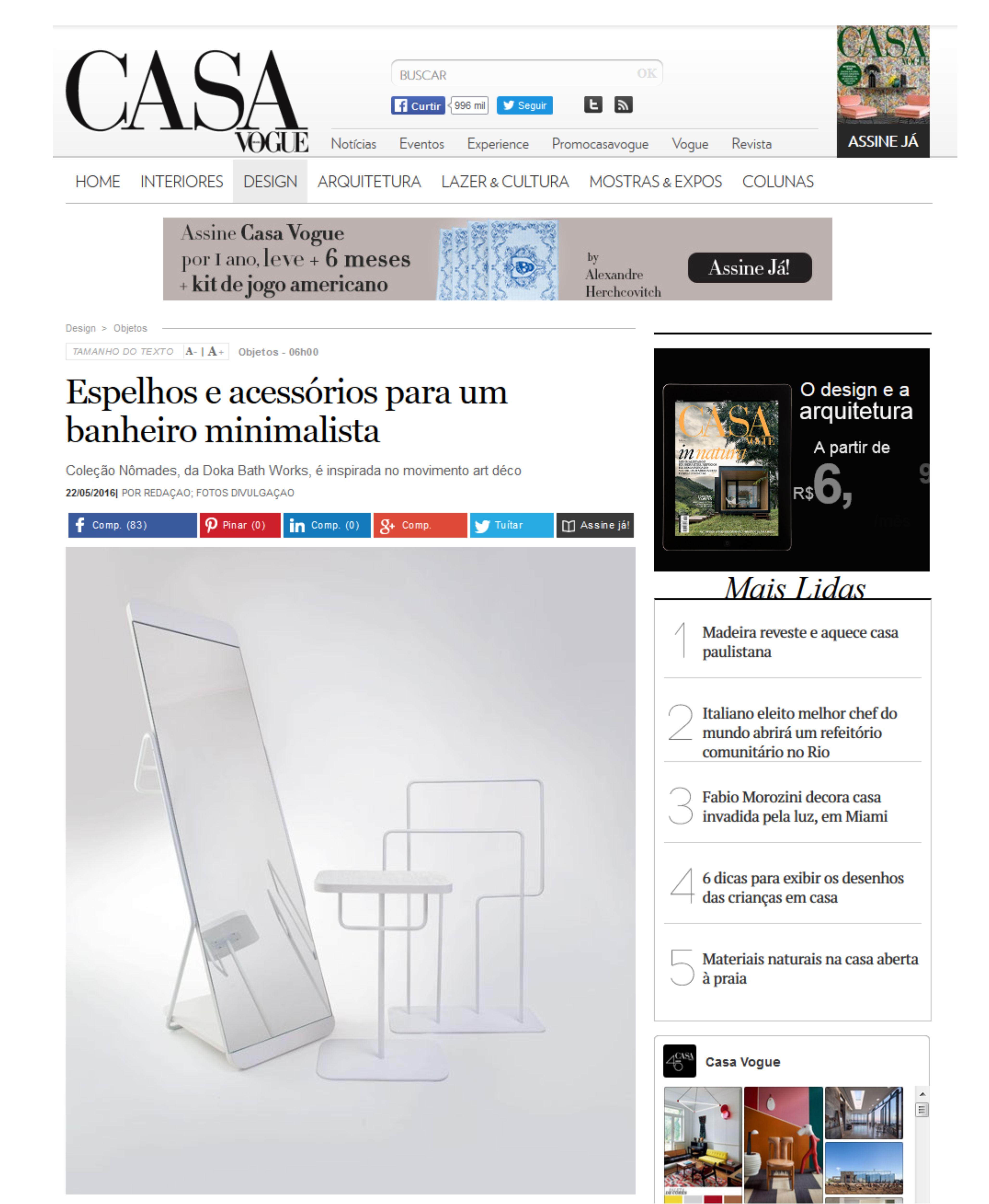 Casa Vogue Brasil | Coleção Nômades