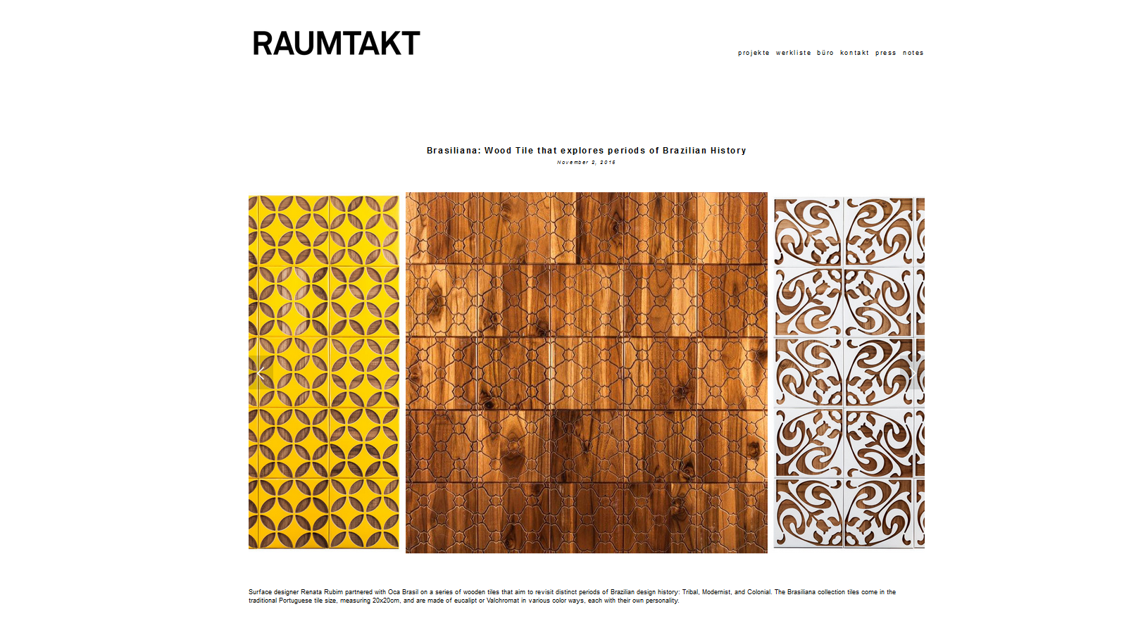 RAUMTAKT Suíça | Coleção Brasiliana
