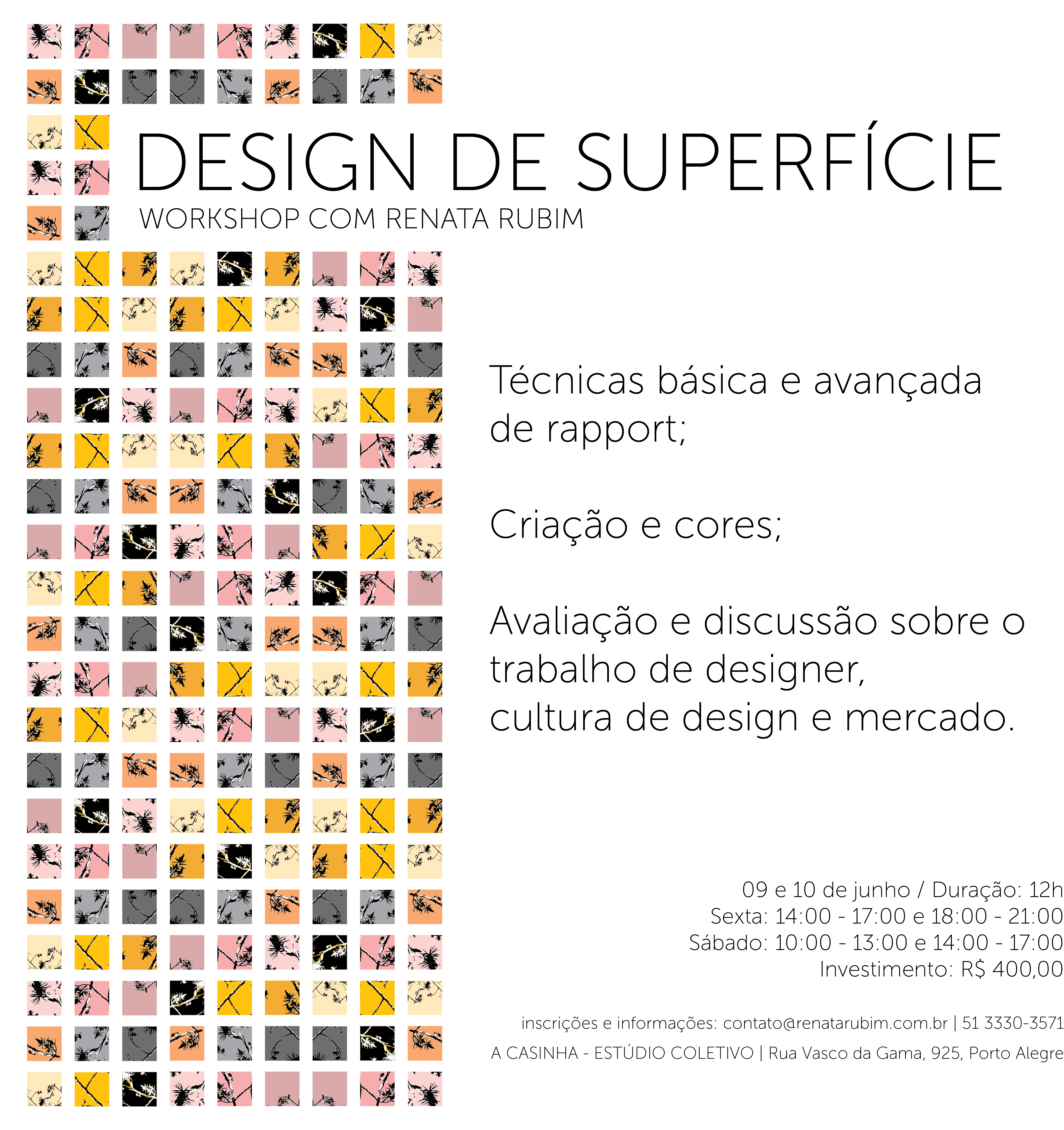 Workshop Design de Superfície | A Casinha