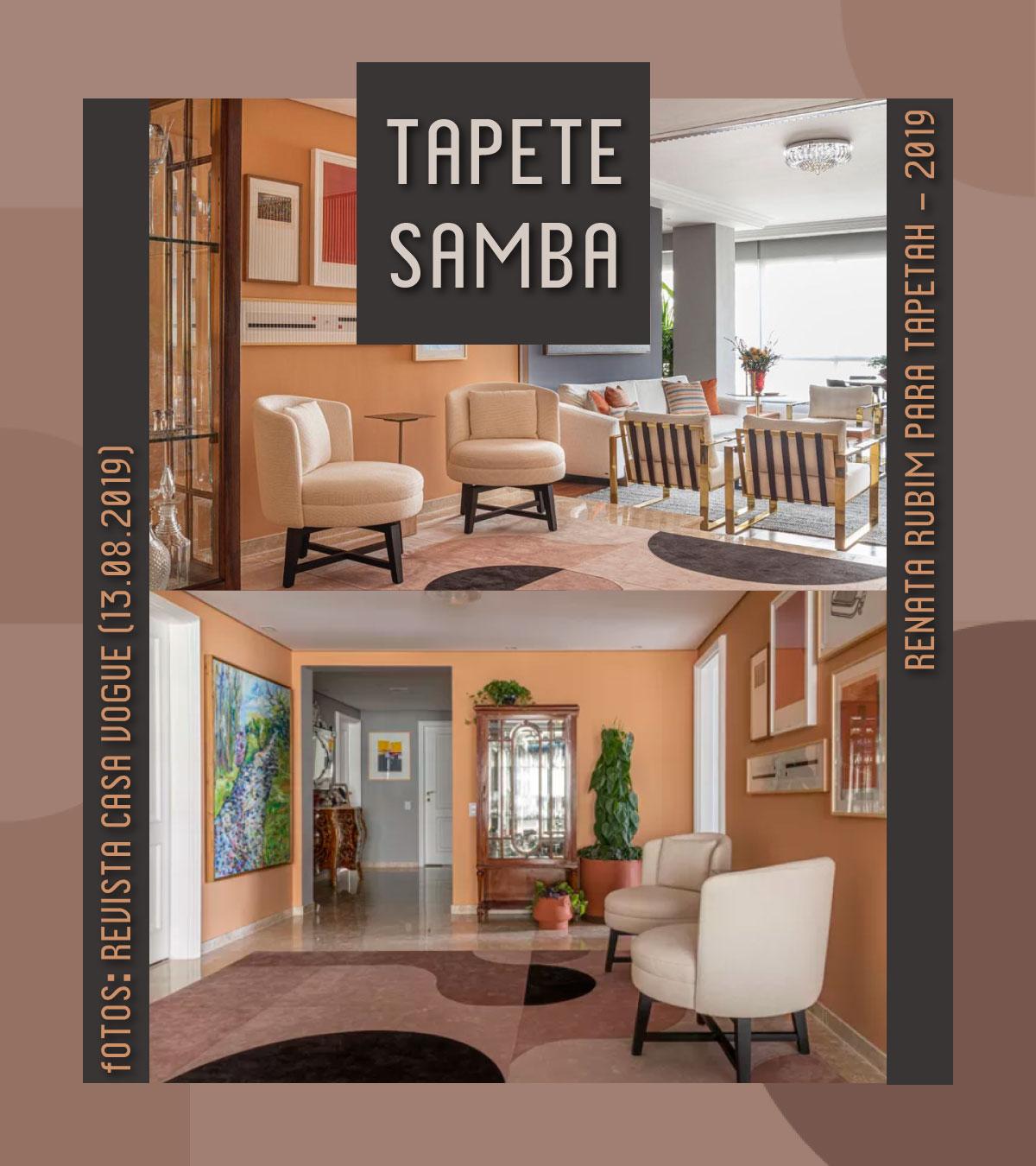 Tapete Samba na Casa Vogue